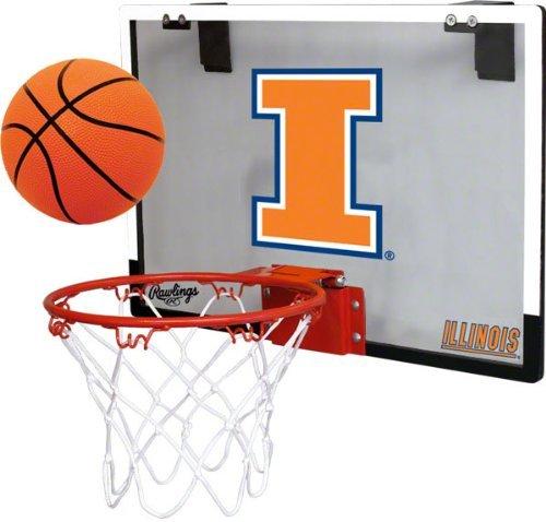 Rawlings University of Illinois Fighting Illini Indoor Basketball Hoop Set - Over The Door Game