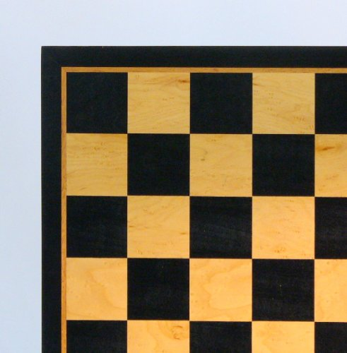WorldWise 21in Black and Birdseye Maple Chess Board by WorldWise Chess