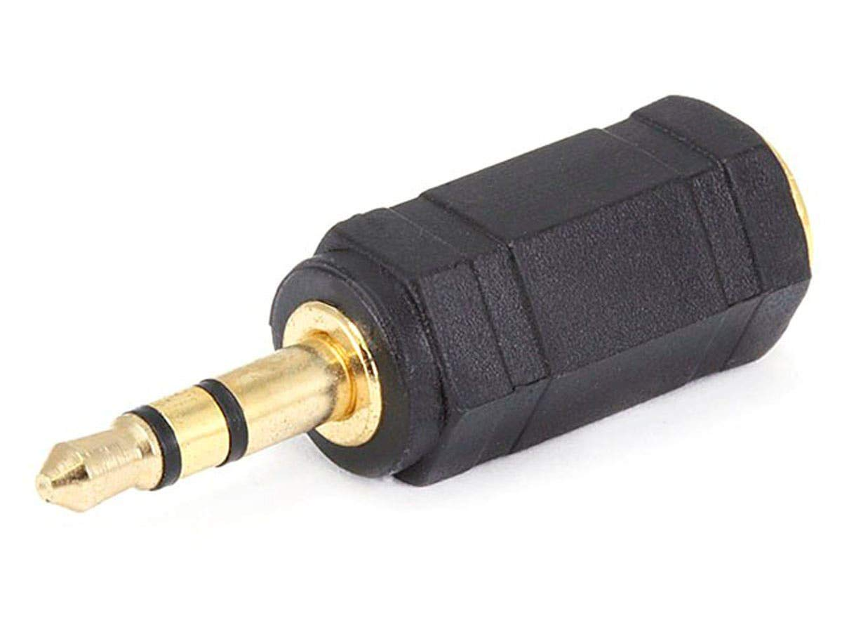 2x Audio Connector 3.5mm Mono Plug to 2.5mm Stereo Jack Adapter