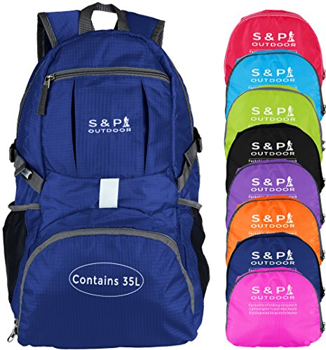 S & P Outdoor 35L Sport waterproof Lightweight Packable Durable folding International Travel Hiking...