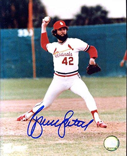 (Bruce Sutter Autographed/ Original Signed 8x10 Color Photo w/ the St. Louis Cardinals)