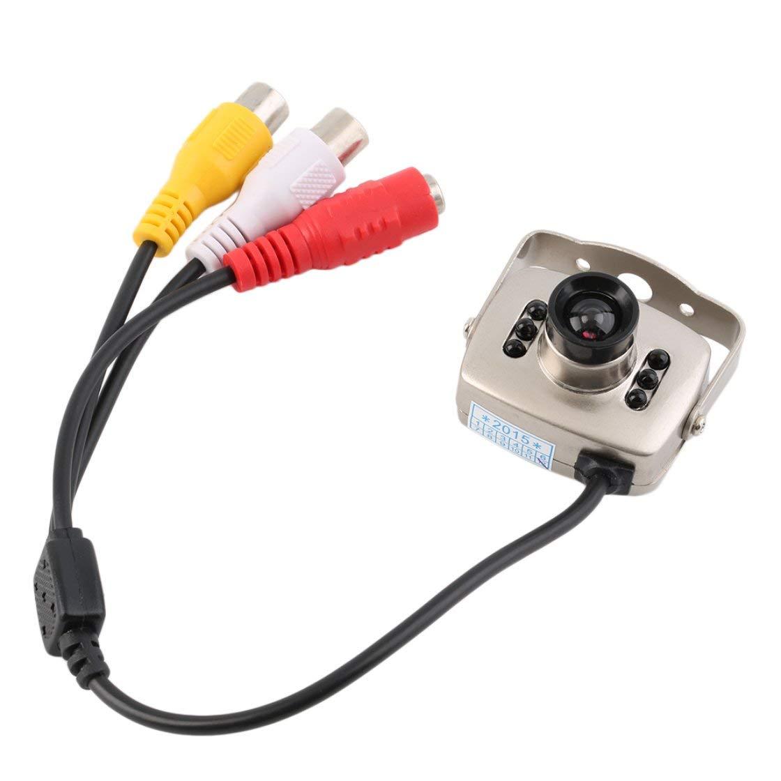 Silvery IR CCTV con cable Mini cá mara Seguridad Color de visió n nocturna Video grabador de infrarrojos Fá cil instalació n de alta definició n Laurelmartina