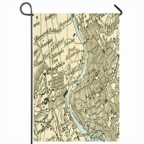 - Ahawoso Garden Flag 12x18 Inches Asia Geography Rome Vintage Copyrightexpired Map Showing Cartography Longitude Countries Old Vatican Decorative Seasonal Double Sided Home House Outdoor Yard Sign