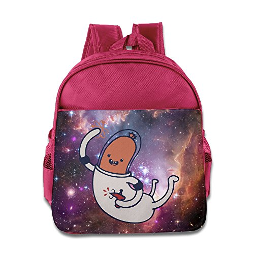 - Sausage Astronaut Kids Backpack School Bag For Boys/girls Pink