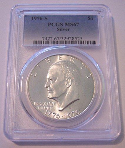 1976 S Eisenhower Bicentennial Silver Dollar MS67 PCGS