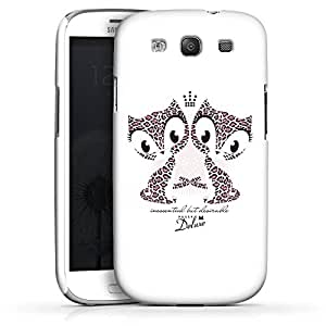 Carcasa Design Funda para Samsung Galaxy S3 i9300 / LTE i9305 PremiumCase white - TIGER CAT