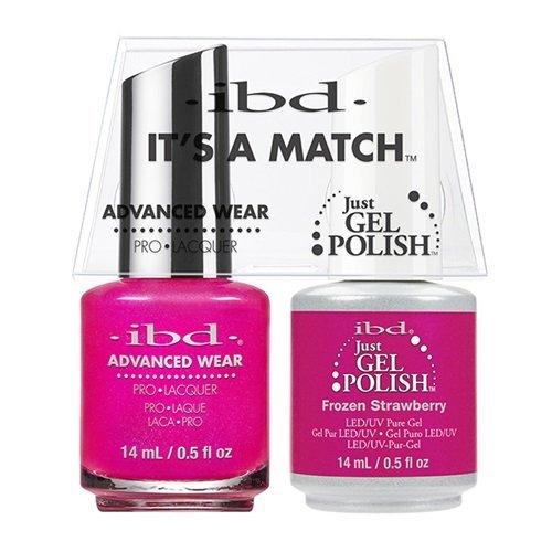 ibd Advanced Wear Color Duo Frozen Strawberry #496 UV Gel Co