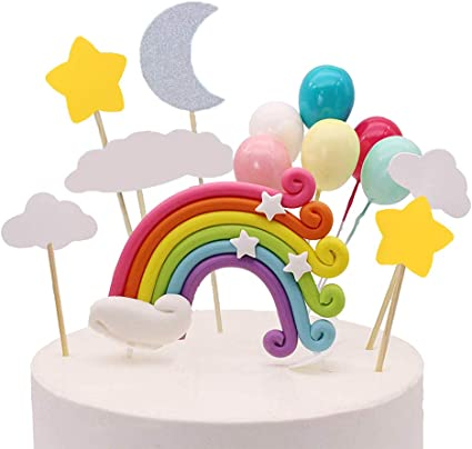 Rainbow birthday cake topper acrylic rainbow cake topper Personalized Rainbow cake topper