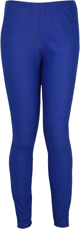 New Womens Ponte Denim Jeans Leggings Ladies Plus Size Elasticated Waist Stretch Fit Trousers Jeggings Royal Blue