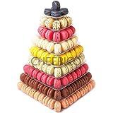9 Tier Square Macaron Tower Macaron Stand to Hold 210 Macarons