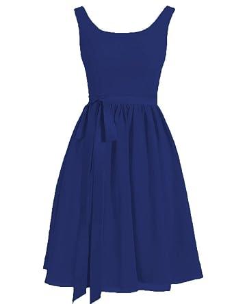 HUINI Damen Modern Kleid Gr. UK 16W, Königsblau