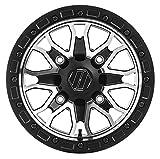 Hiper Wheel 1580-PFSCM-44-SBL-CM 15in. Raptor Racing Wheel - 15x8 - 4+4 - 4/156 - Contrast Machined (15x8)