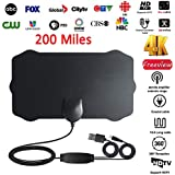 PinShang 200 Mile Range Antenna TV Digital HD Skywire 4K Antena Digital Indoor HDTV 1080P with Signal Amplifier