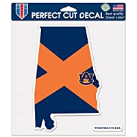"NCAA Auburn University 98183014 Perfect Cut Color Decal, 8"" x 8"", Black"