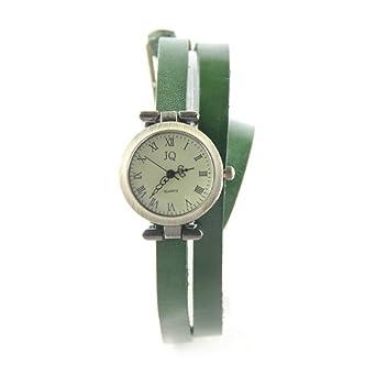 grande vente de liquidation dernières conceptions diversifiées nouvelle collection Double Tour Vert Montre Femme Bracelet Cuir My-Montre