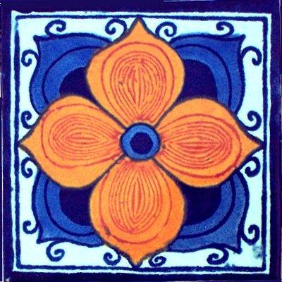 2x2 36 pcs Marigold Talavera Mexican Tile