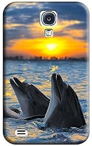 Dolphin Hard Back Shell Case / Cover for Galaxy S4 wangjiang maoyi