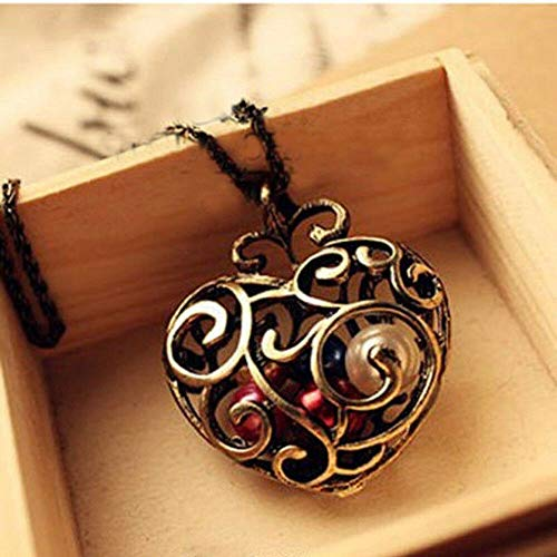 - Trendy Women Long Bead Gift Sweater Chain Jewelry Pendant Necklace Hollow Heart