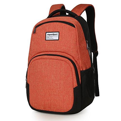 e72e4798ff2b ASPENSPORT School Backpacks College Student Girls fit 15.6inch Laptop  Bookbags 7 Colors choices Lightweight WaterProof