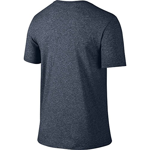 NIKE Men's Dri-FIT Cotton 2.0 Tee, Obsidian Heather/Matte Silver, Small by Nike (Image #2)