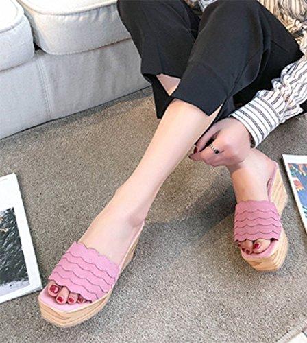 SCLOTHS 5 Infradito cm spesso 8 Pink Donna Beach antiscivolo pendenza da outdoor Estate fondo 16d1xn