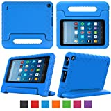 """eTopxizu Case for All-New Fire HD 8 2018 / 2017 - Kids Shockproof Convertible Handle Light Weight Protective Stand Cover Case for Fire HD 8"""" Display Tablet 2018 / 2017, Blue"""