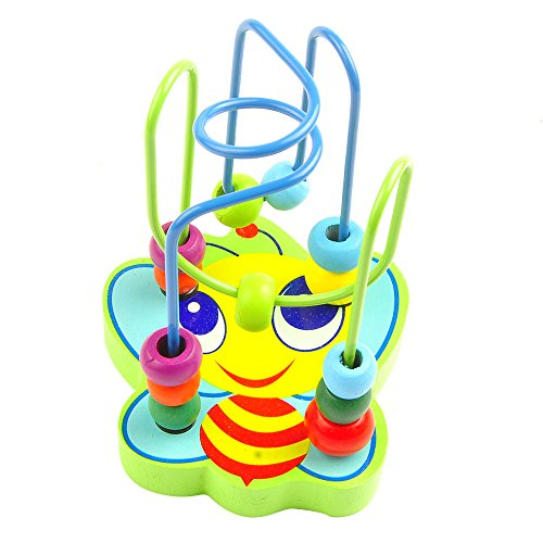 aGreatlife First Colorful Bead Maze Toy for Kids - Amazingly Fun Roller Coaster Wire Maze With Brightly Colored Beads