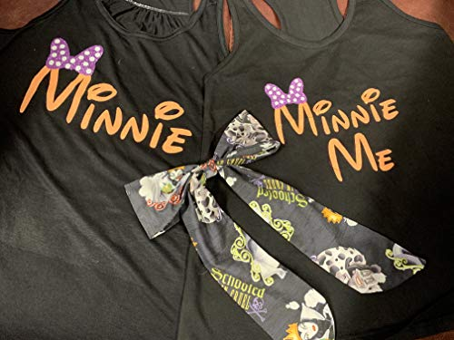 Handmade~Disney Mommy & Me Shirts with Bows on