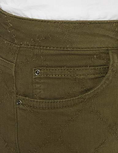 Back Yargıcı Pantalones Mujer 010 Hem Blue Blau light Trousers Detailed vfxPqZngdf