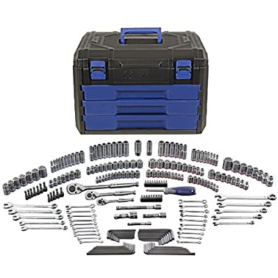 Kobalt 85183 227-Piece Standard/Metric Mechanics Tool Set with Case