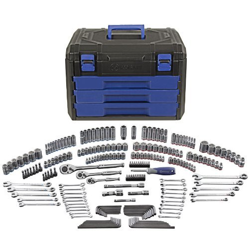 Kobalt 227-Piece Standard/Metric Mechanics Tool Set with Case 85183