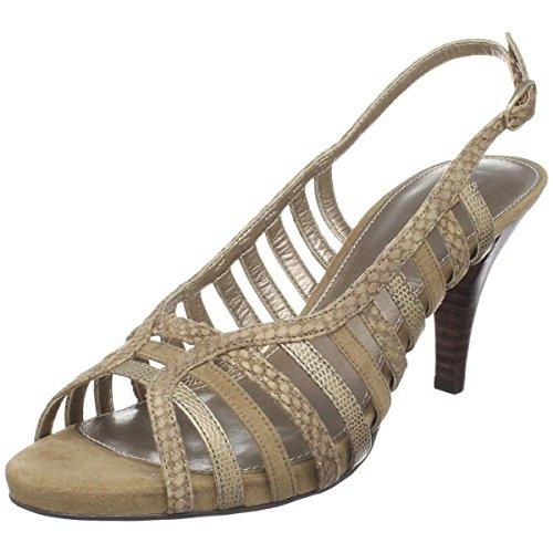 Bandolino Women's Pearlie Platform Sandal,Medium Taupe Leather,10 M (Bandolino Leather Platforms)