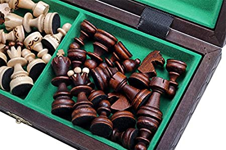 Adults Travel quality Chess Board with Pieces Home perfect Chess Cassette 30 x 30 cm for Children Beginners foldable and portable Camping N//A recus Wooden Chess Set