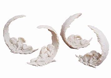 Amazonde 4 Süsse Engel Schlafen Auf Feder 10cm X 10cm