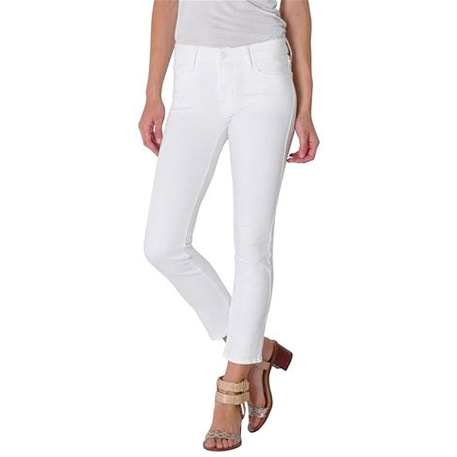 Fidelity Denim Women's Stevie Crop in White Bliss
