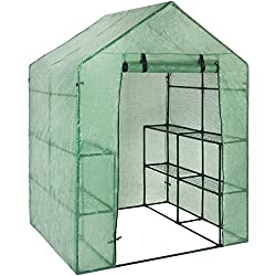 "Best Choice Products 3-Tier 8-Shelf Portable Outdoor Mini Garden Walk-in Greenhouse, 57.5"" L x 56"" W x 76"" H - Green"
