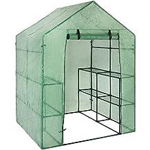 "Best Choice Products 3-Tier 8-Shelf Portable Outdoor Mini Garden Walk-In Greenhouse, 57.5"" L x 56"" W x 76"" H - Green"
