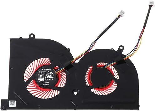 BASSK Ventilador de refrigeración para CPU GPU portátil para MSI ...