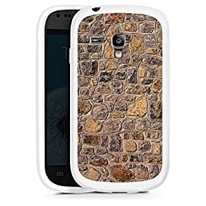Silicona Carcasa blanco Funda para Samsung Galaxy S3 Mini - Oranges Mauerwerk