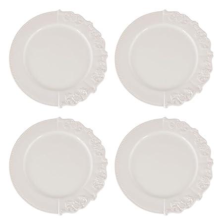 Juego de cuatro platos laterales de estilo barroco con bordes de ...