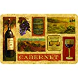 Cushion Comfort Cabernet Kitchen Mat, 22-Inch By 34-Inch