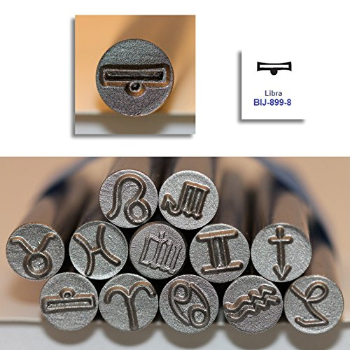 Kent 9.0mm LIBRA Zodiac Symbol Metal Punch Stamps, Sold Individually ()