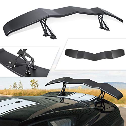 E-cowlboy Rear Wing Spoiler Trunk Lip Spoiler Universal for Ford Mustang Chevy Camaro Dodge Challenger in GT Lambo Style Matte Black