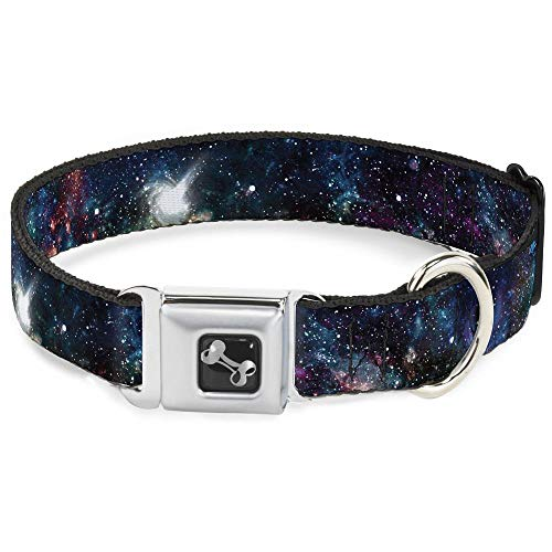 """Buckle Down Dog Collar Bone - Galaxy Collage - Large 15-26"""" from Buckle Down"""