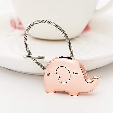 Amazon.com: VORCOOL - Llavero con diseño de elefante, 2 ...