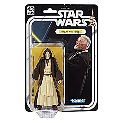 Star Wars The Black Series 40th Anniversary Ben (Obi-Wan) Kenobi 6 Inch Figure: Toys & Games