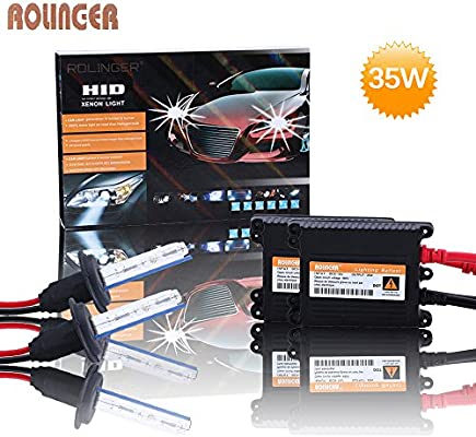 2X BULBS FOR AFTER MARKET HID CONVERSION KIT XENON 4300K PURE WHITE 35W WIRE IN