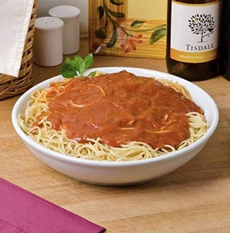 St@llion 26cm White Porcelain Large Round Spaghetti Pasta Serving Bowls Dishes,Soup,Dessert,1.6 litres Capacity Pack of 1