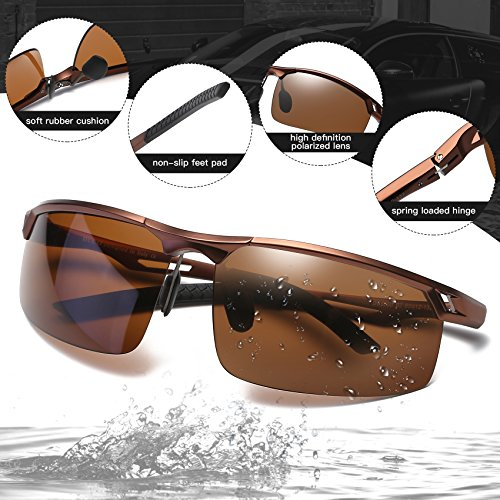 las Duco de de de polarizados hombres los 8550 los gafas sol Marrón vidrios del divierten deportes conductor HHf7xrp