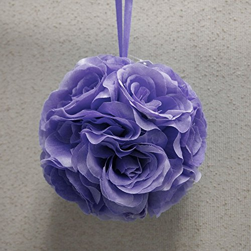 Homeford FPF00000250228LA Silk Flower Kissing Balls Wedding Centerpiece, 6-Inch, Lavender